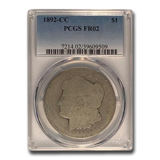 1892-CC Morgan Dollar Fair-2 PCGS