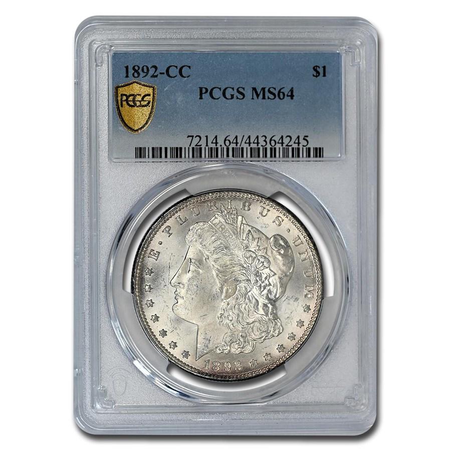 1892-CC Morgan Dollar MS-64 PCGS