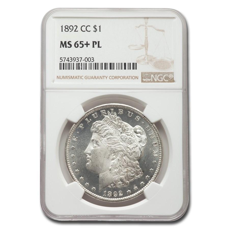 1892-CC Morgan Dollar MS-65+ NGC (PL)