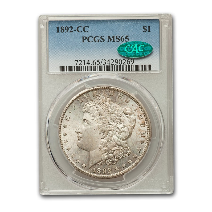 1892-CC Morgan Dollar MS-65 PCGS CAC