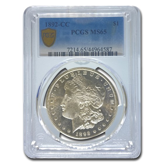 1892-CC Morgan Dollar MS-65 PCGS