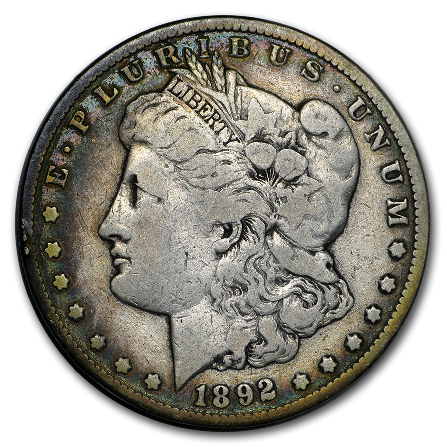 1892-CC Morgan Dollar VF (Cleaned)