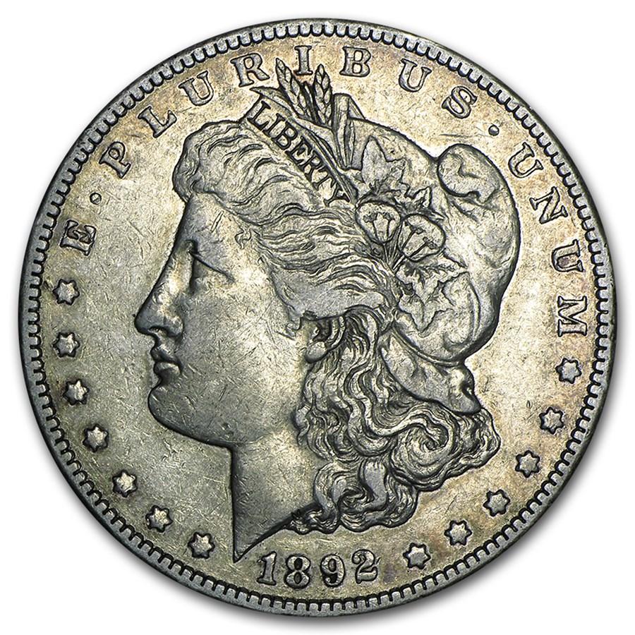 1892-CC Morgan Dollar XF