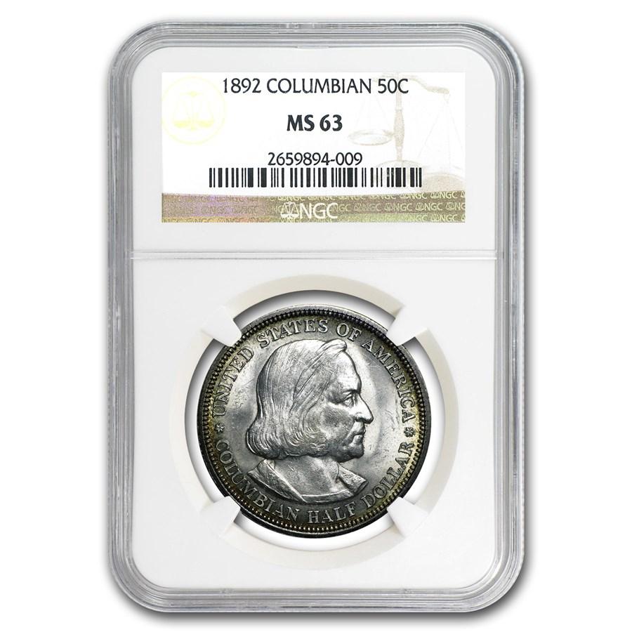 1892 Columbian Expo Half Dollar MS-63 NGC
