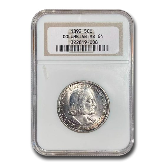 1892 Columbian Expo Half Dollar MS-64 NGC