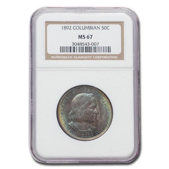 1892 Columbian Expo Half Dollar MS-67 NGC