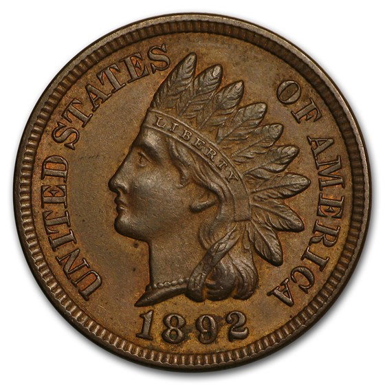1892 Indian Head Cent BU