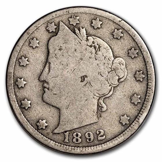 1892 Liberty Head V Nickel Good