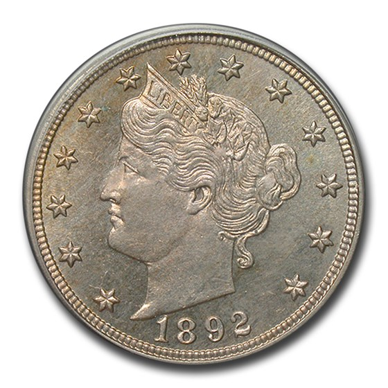1892 Liberty Head V Nickel PR-64 PCGS