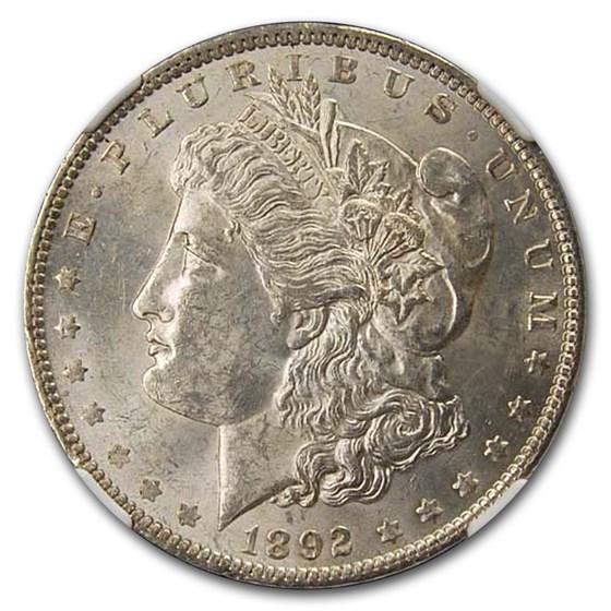 1892 Morgan Dollar MS-61 NGC