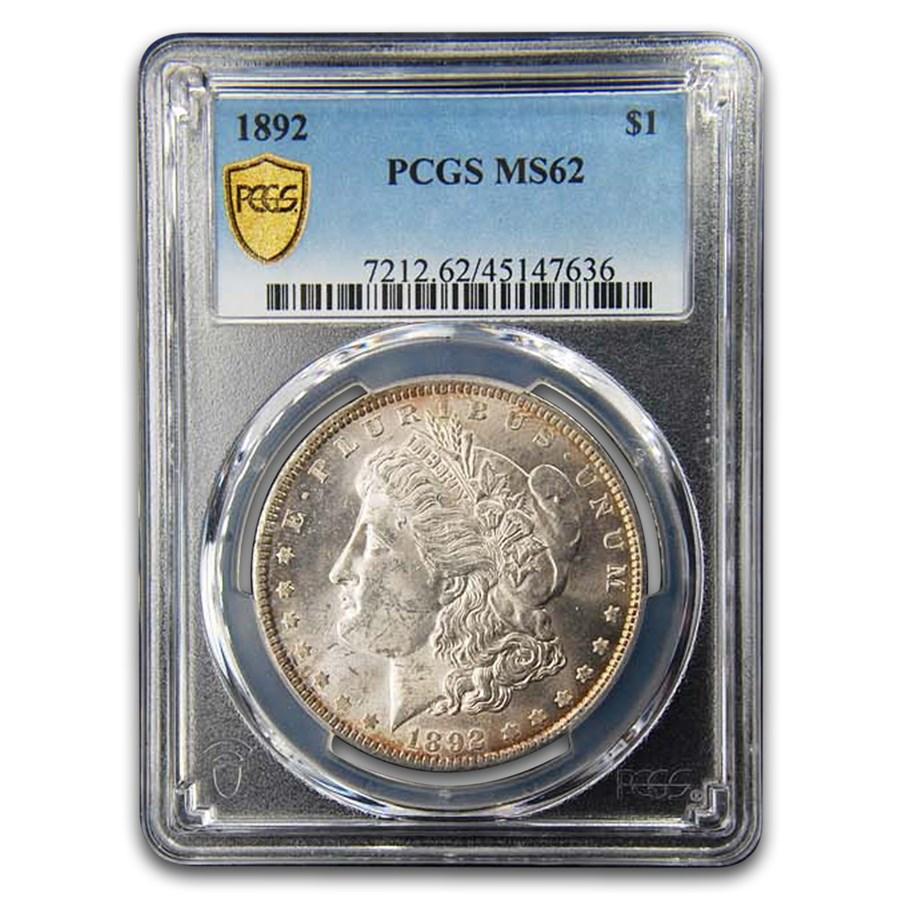 1892 Morgan Dollar MS-62 PCGS