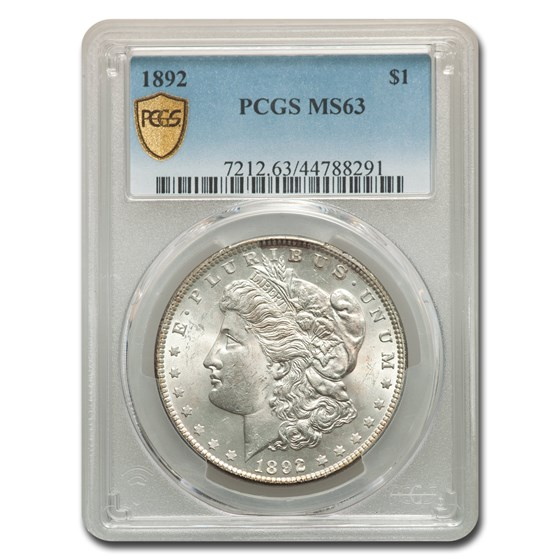 1892 Morgan Dollar MS-63 PCGS