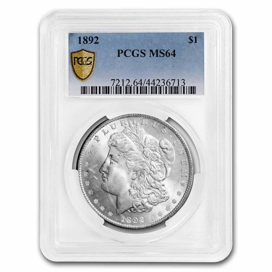 1892 Morgan Dollar MS-64 PCGS