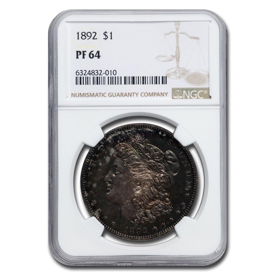 1892 Morgan Dollar PF-64 NGC
