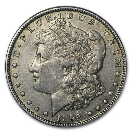 1892 Morgan Dollar XF