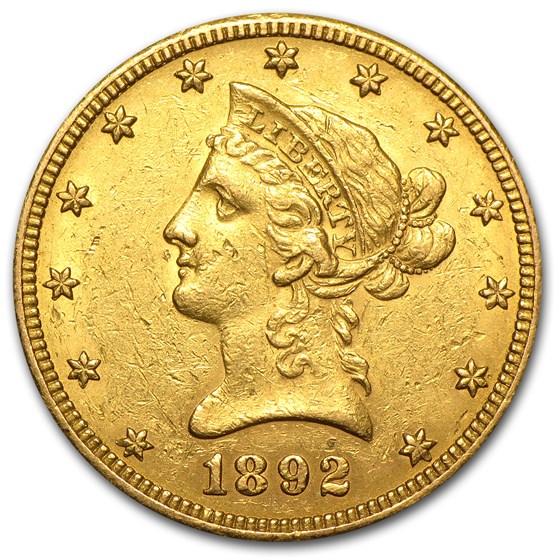 1892-O $10 Liberty Gold Eagle XF
