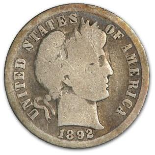 1892-O Barber Dime Good