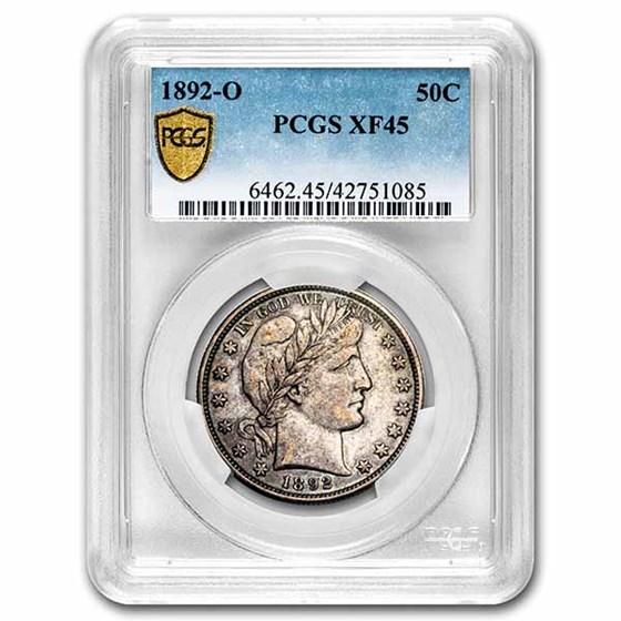1892-O Barber Half Dollar XF-45 PCGS