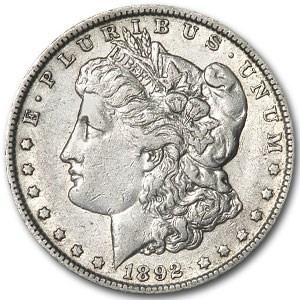 1892-O Morgan Dollar AU Details (VAM-5, Doubled Ear, Cleaned)
