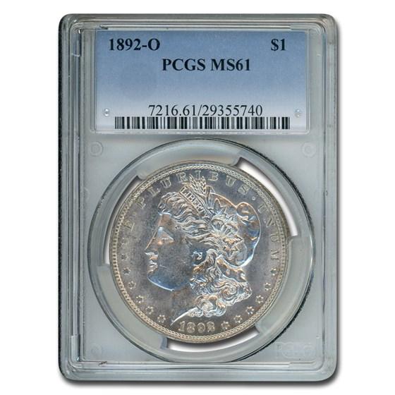 1892-O Morgan Dollar MS-61 PCGS