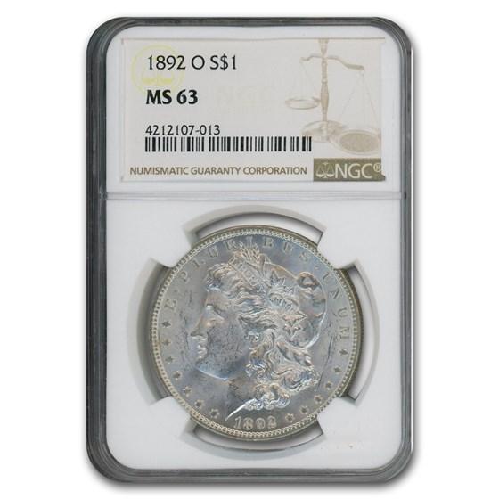 1892-O Morgan Dollar MS-63 NGC