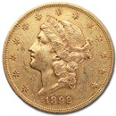 1892-S $20 Liberty Gold Double Eagle XF
