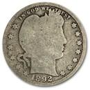 1892-S Barber Quarter AG