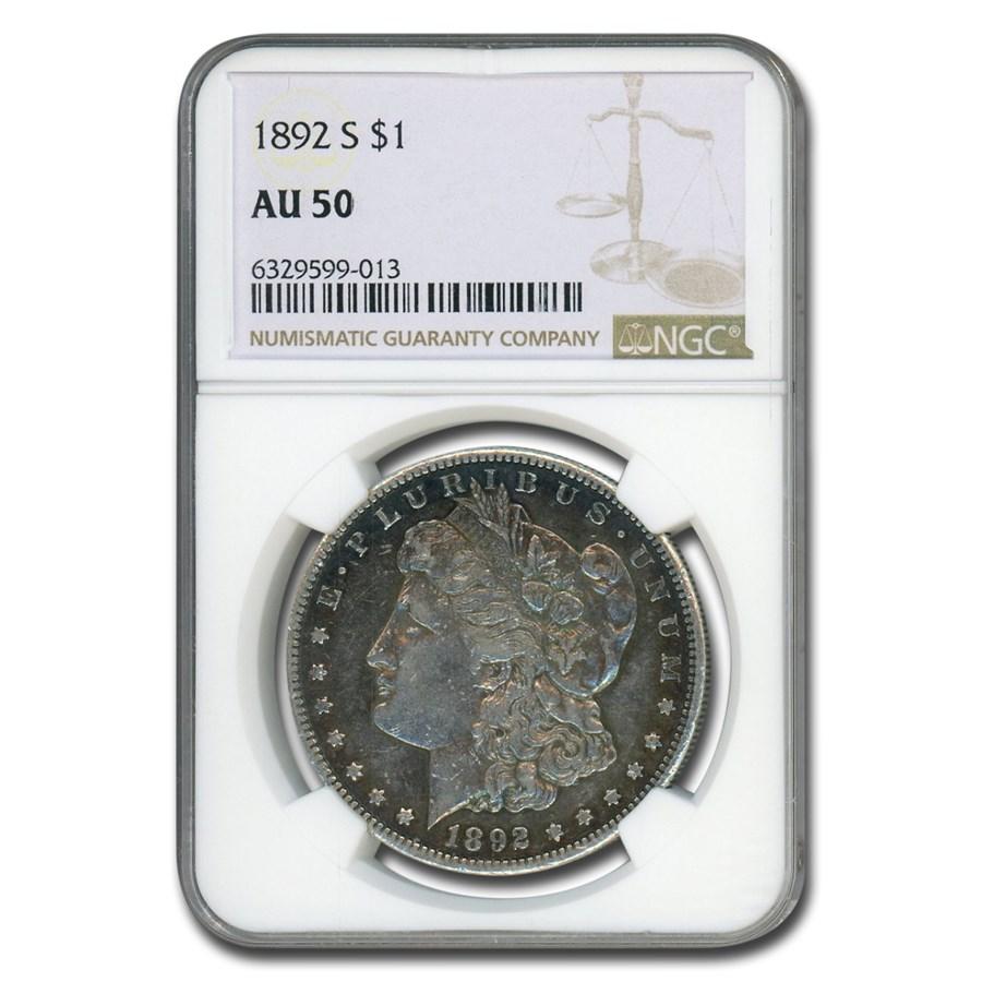 1892-S Morgan Dollar AU-50 NGC