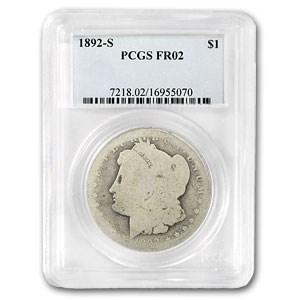 1892-S Morgan Dollar Fair-2 PCGS (Low Ball Registry)