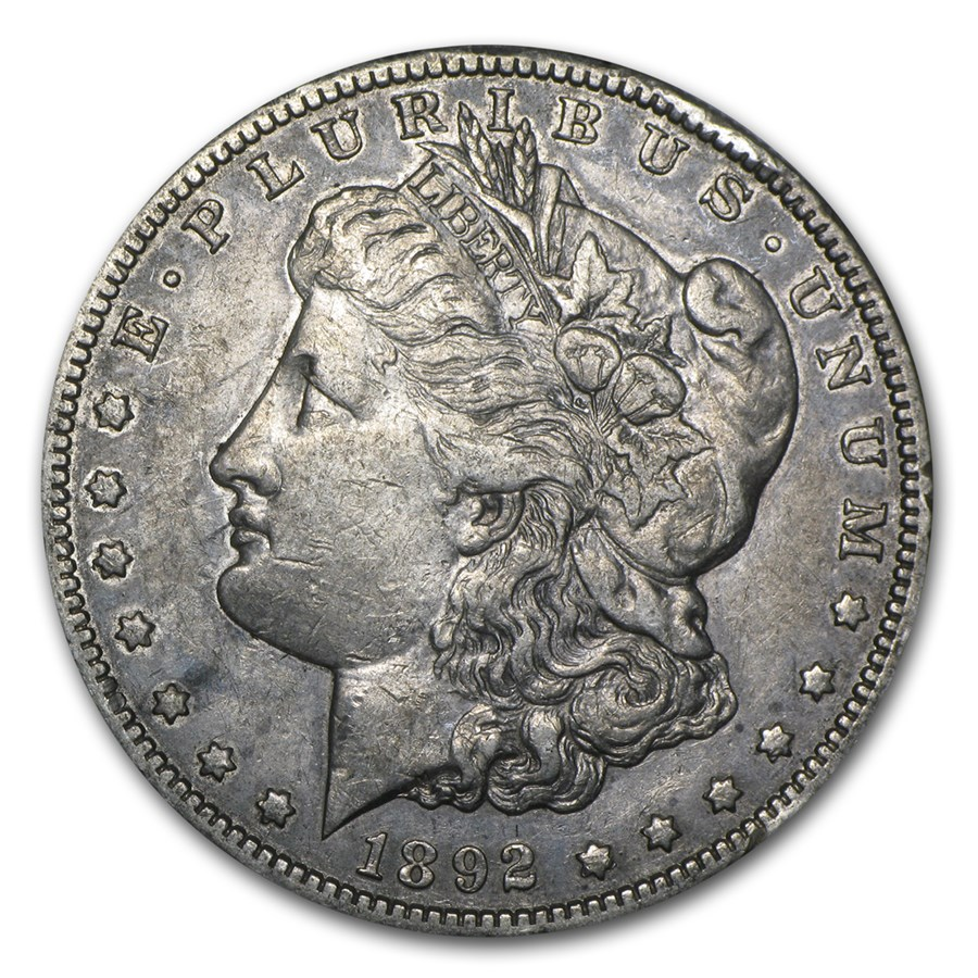 1892-S Morgan Dollar XF Details (Cleaned)