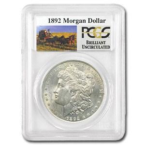 1892 Stage Coach Silver Dollar BU PCGS