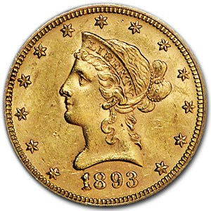 1893 $10 Liberty Gold Eagle AU