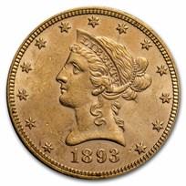 1893 $10 Liberty Gold Eagle BU