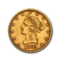 1893 $10 Liberty Gold Eagle XF