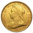 1893-1901 Great Britain Gold Sov. Victoria Veil Head (Avg Circ)