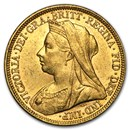 1893-1901-M Australia Gold Sovereign Victoria Veil Head AU