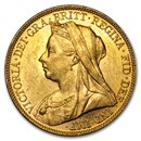 1893-1901-M Australia Gold Sovereign Victoria Veil Head BU
