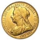 1893-1901-P Australia Gold Sovereign Victoria Veil Head AU