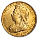 1893-1901-P Australia Gold Sovereign Victoria Veil Head BU