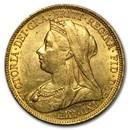 1893-1901-S Australia Gold Sovereign Victoria Veil Head BU