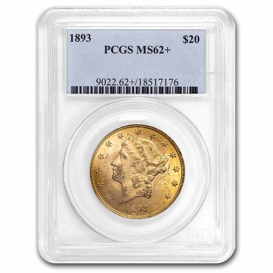 1893 $20 Liberty Gold Double Eagle MS-62 PCGS