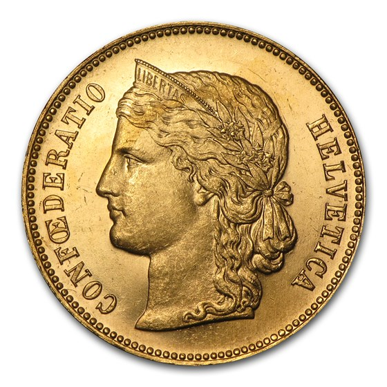 1893-B Switzerland Gold 20 Francs AU