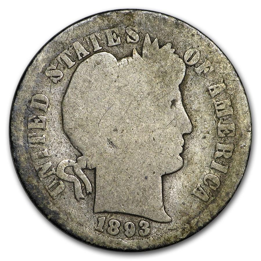 1893 Barber Dime AG