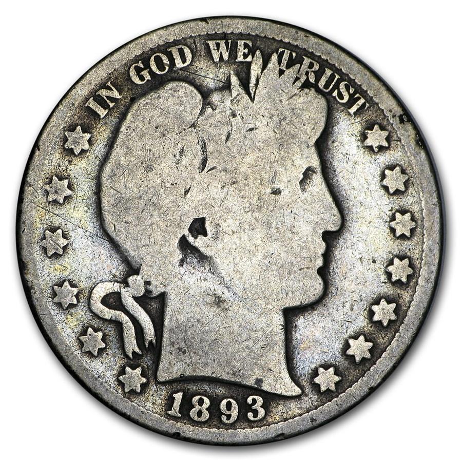1893 Barber Half Dollar AG