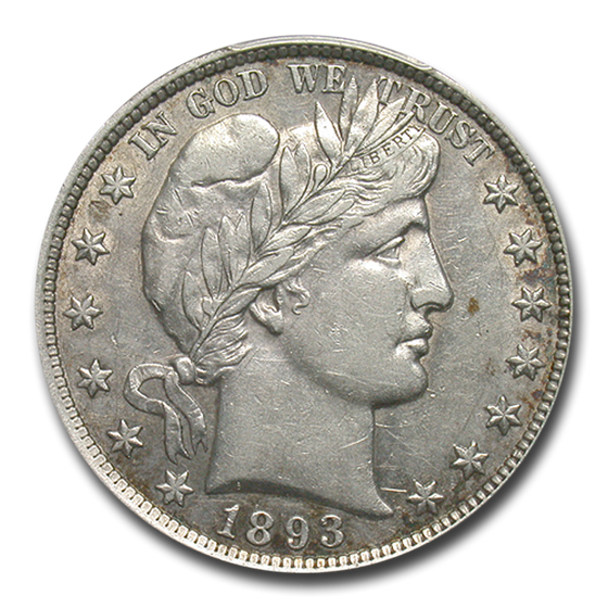 1893 Barber Half Dollar AU-50 PCGS
