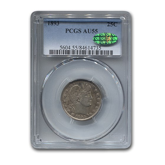 1893 Barber Half Dollar AU-55 PCGS CAC