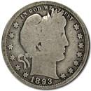 1893 Barber Quarter Good/VG