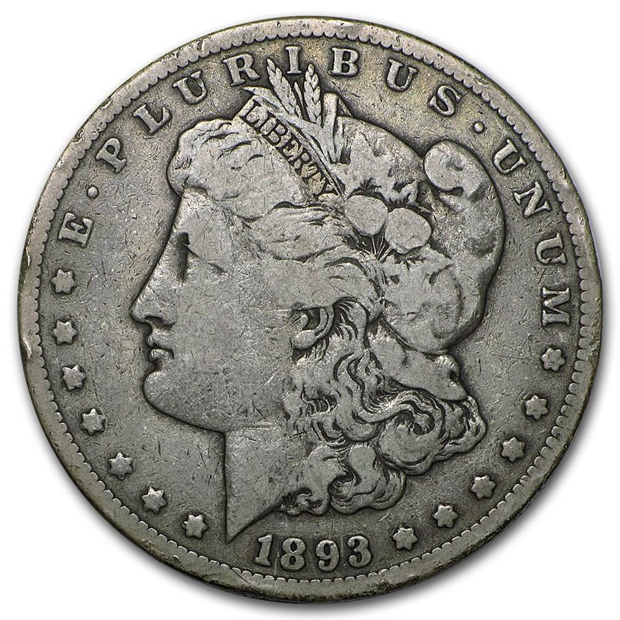 1893-CC Morgan Dollar Fine