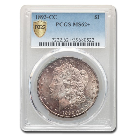 1893-CC Morgan Dollar MS-62+ PCGS