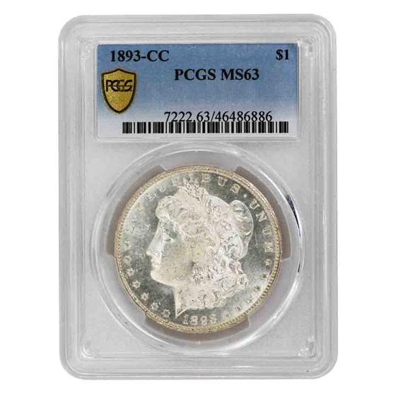 1893-CC Morgan Dollar MS-63 PCGS
